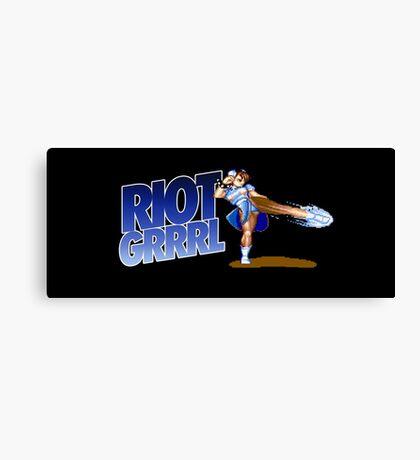 Riot grrrl Canvas Print