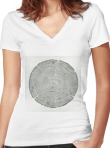 Going in circles Women's Fitted V-Neck T-Shirt