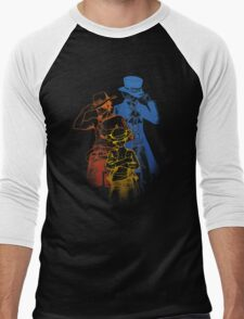 One Piece Brothers - colored lineart Men's Baseball ¾ T-Shirt