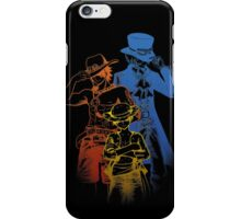 Brothers - colored lineart iPhone Case/Skin