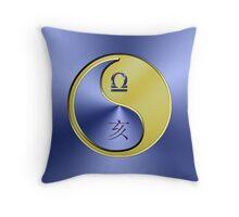 Libra & Boar Yin Metal Throw Pillow