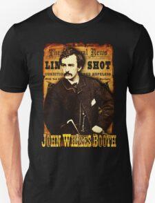 John Wilkes Booth American Assassins Design T-Shirt
