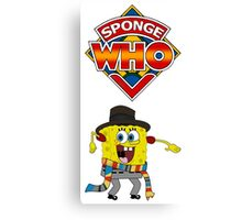 Sponge Who Canvas Print