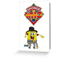 Sponge Who Greeting Card