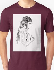 Galadriel, most beautiful of all the house of Finwe.  Unisex T-Shirt