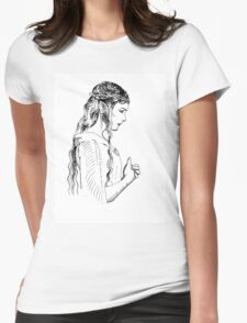 Galadriel, most beautiful of all the house of Finwe.  Womens Fitted T-Shirt