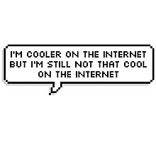 I'm Cooler On The Internet Photographic Print