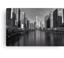 Chicago river at sunrise Canvas Print