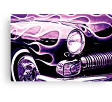 Classic Ford Flames Canvas Print