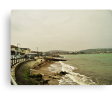 Cloudy Seafront  Canvas Print