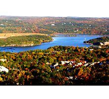 Hudson river valley at fall Photographic Print