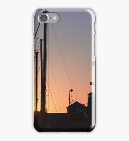 Harbour sunset iPhone Case/Skin