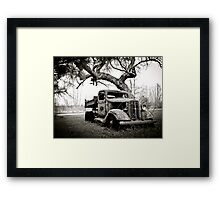 Creepy Vintage Truck Framed Print