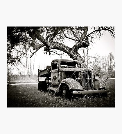 Creepy Vintage Truck Photographic Print