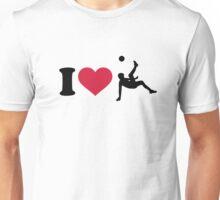 I love Soccer player Unisex T-Shirt