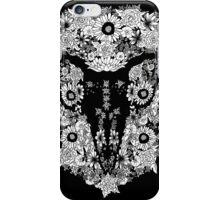 Goat's skull in Flowers iPhone Case/Skin