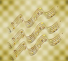 Golden Music Notes by moondreamsmusic