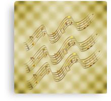 Golden Music Notes Canvas Print