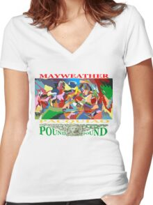 pound for pound Women's Fitted V-Neck T-Shirt