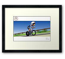 #PolyPeloton : Bradley Wiggins wins gold Framed Print