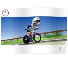 #PolyPeloton : Bradley Wiggins wins gold Poster