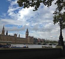 Houses of Parliament, London by buttonsemporium