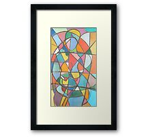 Two Ladies, Abstracted Nudes in Pastel, 2000 Framed Print