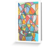 Two Ladies, Abstracted Nudes in Pastel, 2000 Greeting Card