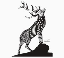 Abstract Stag T-Shirt