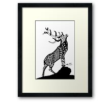Abstract Stag Framed Print