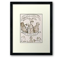 OTGF: Dumb Siblings  Framed Print