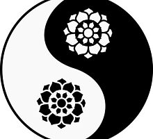 Lotus Flower Yin Yang by zaknafien