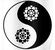 Lotus Flower Yin Yang Poster