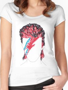 Aladdin Sane  Women's Fitted Scoop T-Shirt