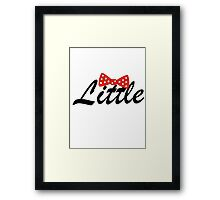 Minni Mouse Bow Little Framed Print