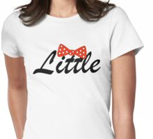 Minni Mouse Bow Little Womens Fitted T-Shirt