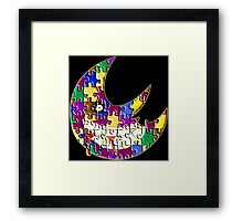 Puzzle moon Soul eater Framed Print