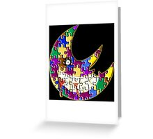 Puzzle moon Soul eater Greeting Card