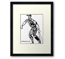Tribute To Jackie Robinson Framed Print