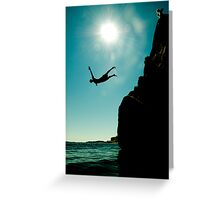 Cliffdiver Greeting Card