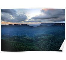 Morning Glory, - Blue Mountains World Heritage Area - The HDR Experience Poster