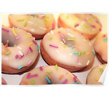 Vanilla glazed donuts Poster