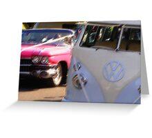 Groovy wedding cars Greeting Card