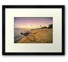 Boat and rope  Framed Print
