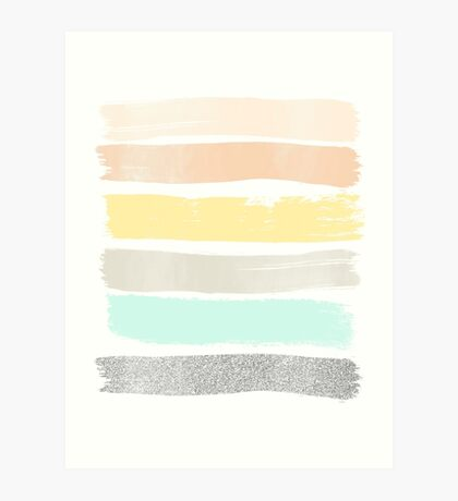 Pastel abstract art Art Print
