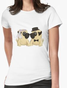 Wedding Pugs Womens Fitted T-Shirt