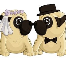 Wedding Pugs by AnMGoug