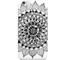 Black and White Mandala iPhone Case/Skin