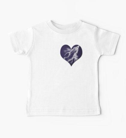 Lightning Bolt Heart Baby Tee