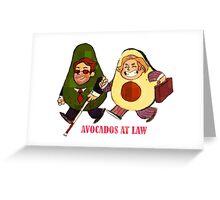 Avocados at law Greeting Card